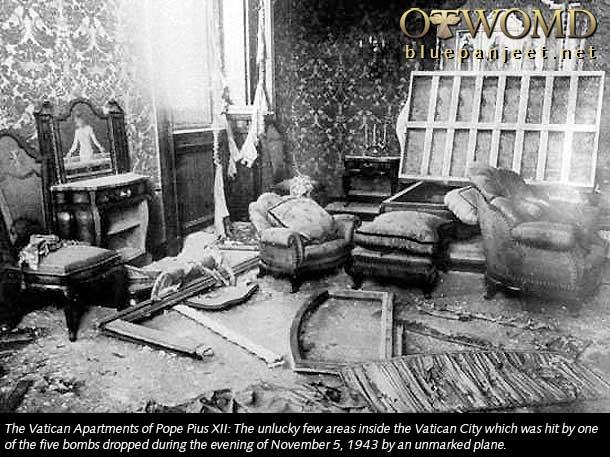 5 novembre 1943 bombe sul vaticano devastato - Le finestre sul vaticano ...