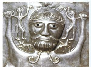 Calderone celtico di Gundestrup (part.), inizi del I secolo a.C, Copenaghen, Nationalmuseet.