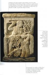 "Pilastro in calcare dei nautae parisiaci, ""età tiberiana"" (14-37 d.C.). rinvenuto nell'Ile de Paris, Parigi, Musée National du Moyen Age."