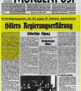 Traduzione del discorso del Führer prima dell'approvazione della Legge per i pieni poteri
