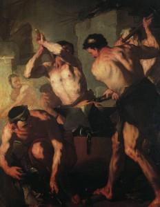 La forgia di Vulcano, di Luca Giordano (1561 – Hermitage, San Pietroburgo).