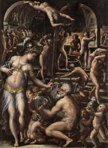 Fucina di Vulcano, di Giorgio Vasari (1564 circa – Uffizi, Firenze).