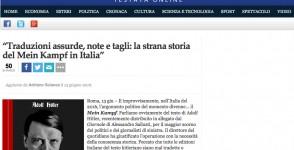 """""""Traduzioni assurde, note e tagli: la strana storia del Mein Kampf in Italia"""""""